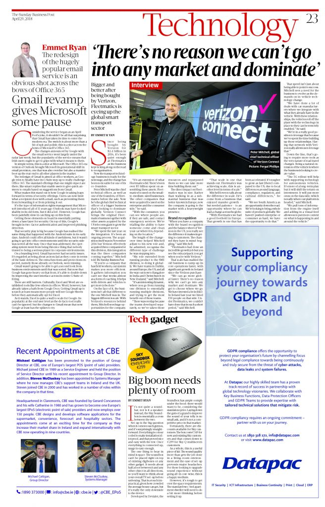 Sunday Business Post feature recent appointments at CBE