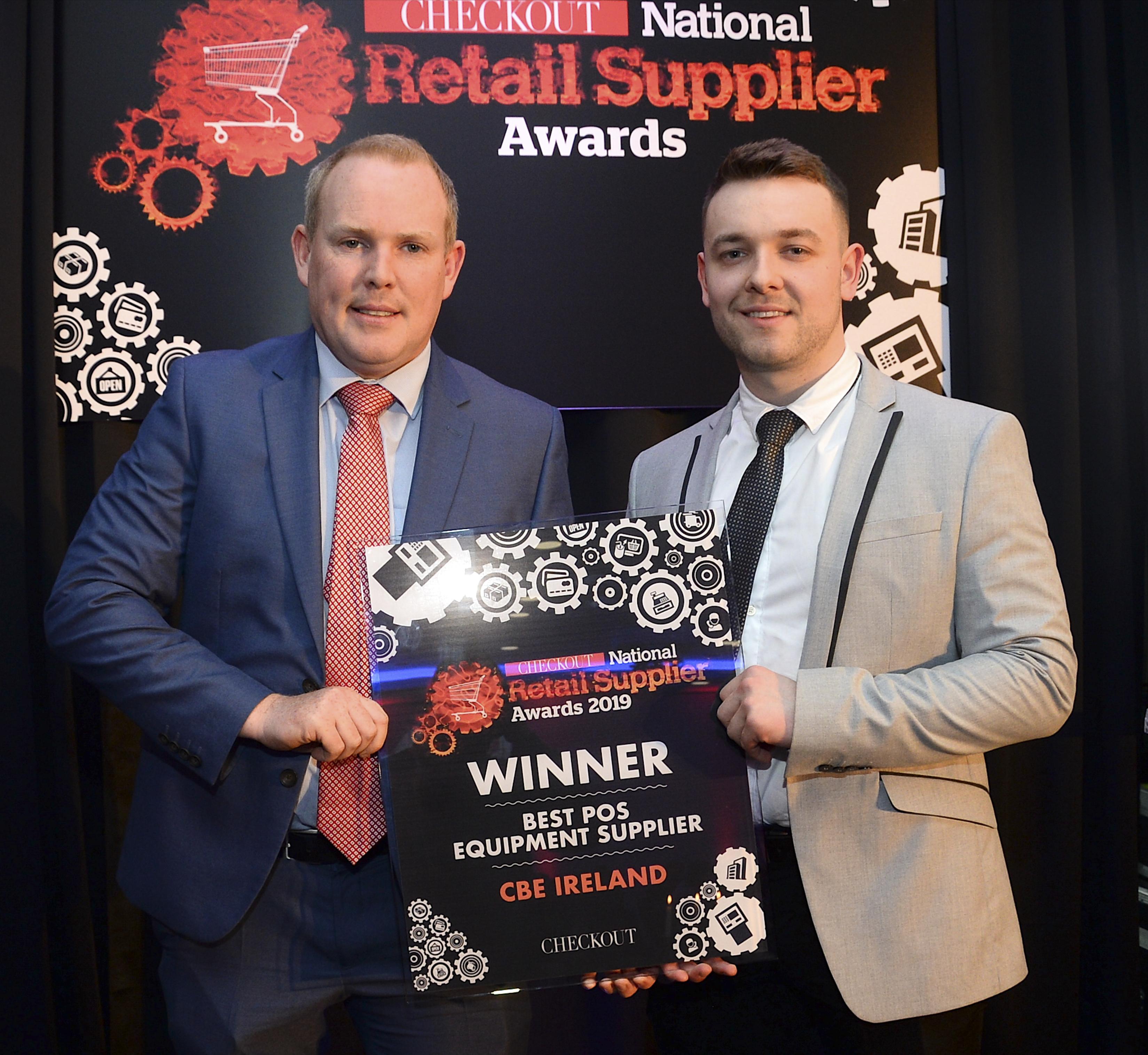 CBE win 'Best POS Equipment Supplier' Award